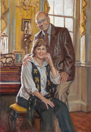 Portrait of Gene and Georgie Wambold by portrait painter Robert Maniscalco