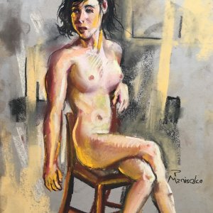 Seated Nude with Warm Light