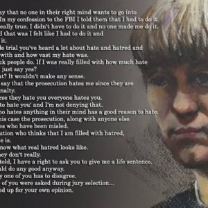 Dylann Roof Trial - Roof With Closing Statement